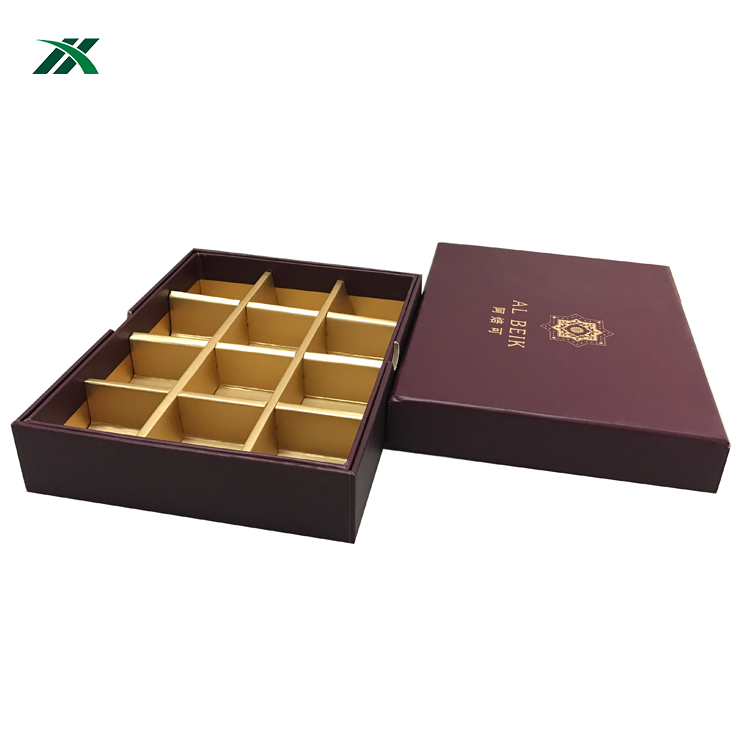 recycled customized logo printed cookies gift box with dividers