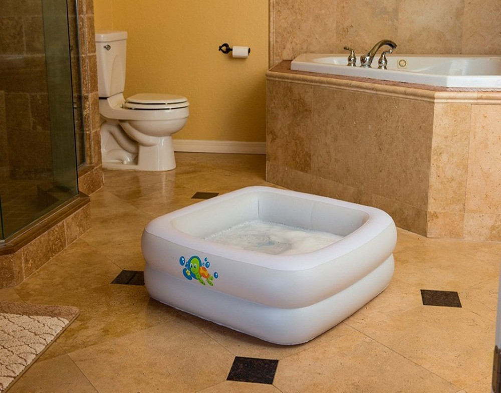 Bestway 51116 Safty Inflatable Baby Bath Tub Rectangle Baby Spa Bath ...