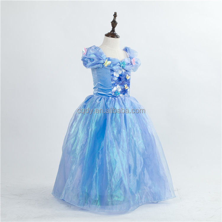 2,11 Years Age And Long Style Of Length Latest Girls Dresses Cinderella  Princess Butterfly Dress Cinderella Movie Costume , Buy Cinderella Princess