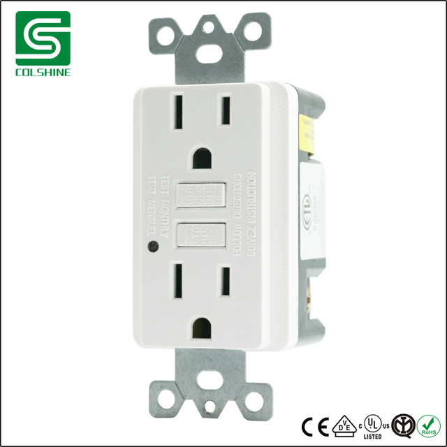 Ground Fault Circuit Interrupter Gfci 15a Dinding Outlet Socket