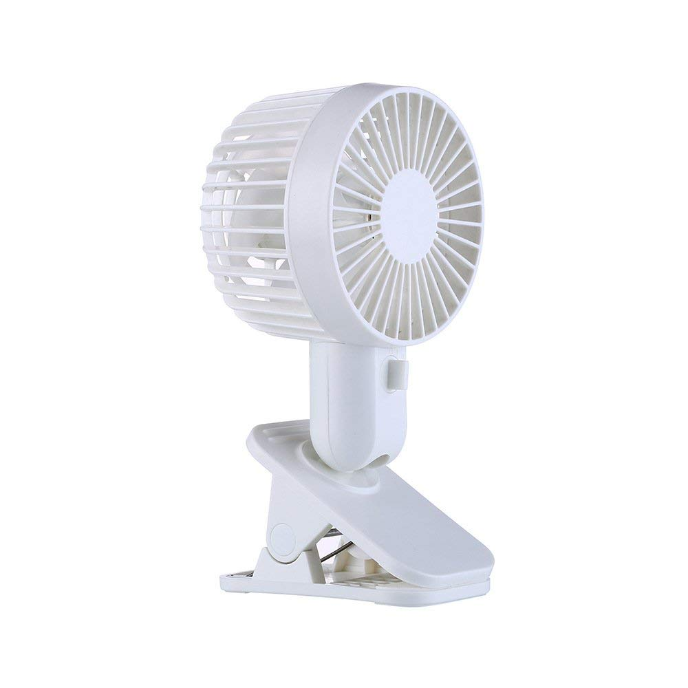 Sundlight Clip Fan, Mini USB Desk Fan Battery Operated Powered 120 Degree Angle Adjustable for Baby Stroller,Office,Outdoor Camping,Dormitory