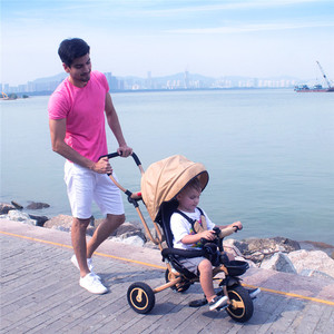 CE Steel Frame Ride On Pedal Car Plastic Metal Children Trike Cheap Baby Walker Tricycle Kids Toddler Tricycle Reclining Seat