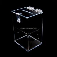 New Clear Acrylic Donation Box With Lock Fund-raising Box
