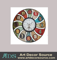 Decorative colorful metal Wall Clock
