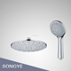 new design plastic round shower head set and hand held shower set for bathroom