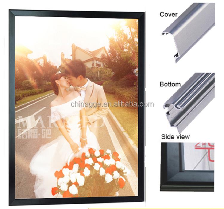 Kingsher Beer India Curve Aluminum Poster Frame Holder Advertising LED Light Box BeerFor Shopping Mall