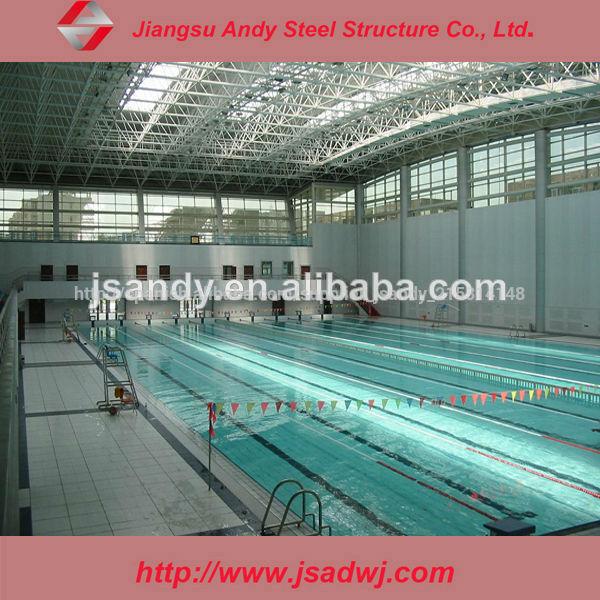 La estructura de acero para la piscina cubierta for Estructura para piscina