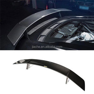 Dry Carbon Fiber Car Rear Trunk Spoiler Boot Racing Wings for Audi R8 2018 2019 Car Tuning Parts