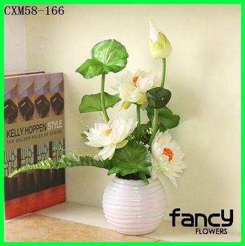 New Product Artificial Lotus Arrangement For Wedding And Home Decor