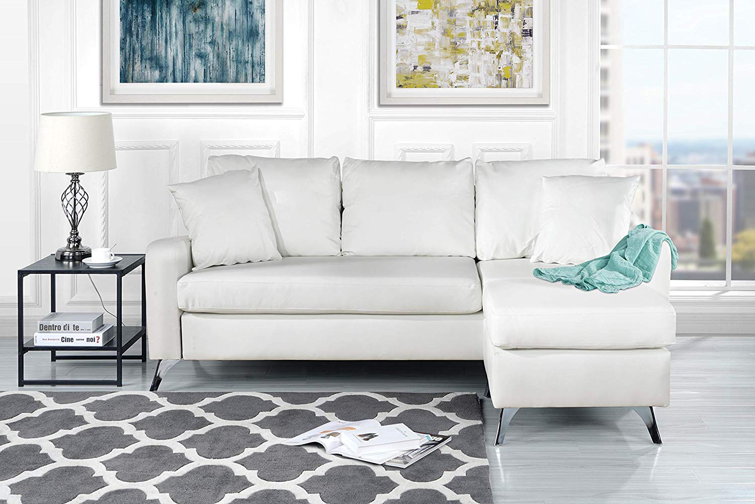 Admirable Cheap White Leather Sectional Couch Find White Leather Caraccident5 Cool Chair Designs And Ideas Caraccident5Info