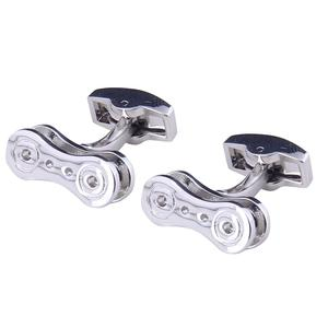 best selling y novelty silver Bicycle Chain Cufflinks For Men Wedding