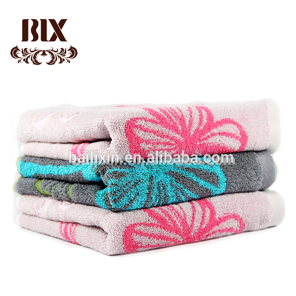 High Quality Thermal 32s2 Cotton Terry Jacquard Face Towel For