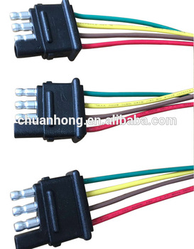 4 Pin Way Trailer Light Wiring Harness Extension 4 Pin 18 Awg Flat  Pin Wiring Harness on
