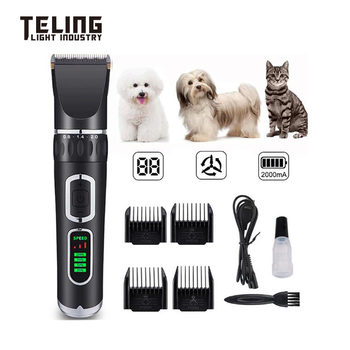 New Pet Electric Hair Clipper Dog and Cat Hair Shaver Electric LCD display