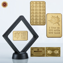 WR 1 OZ 999 Fine Gold Bar Commemorative Challenge Europe Gold Bullion Coin for Collection