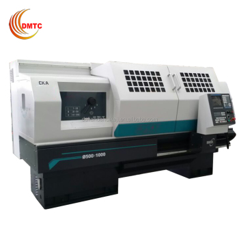 CKA6163A Flat Bed CNC Lathe with 4 Position Electric Turret