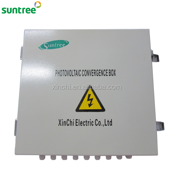 PV array combiner box 6 strings 2 output PV Solar Junction Box
