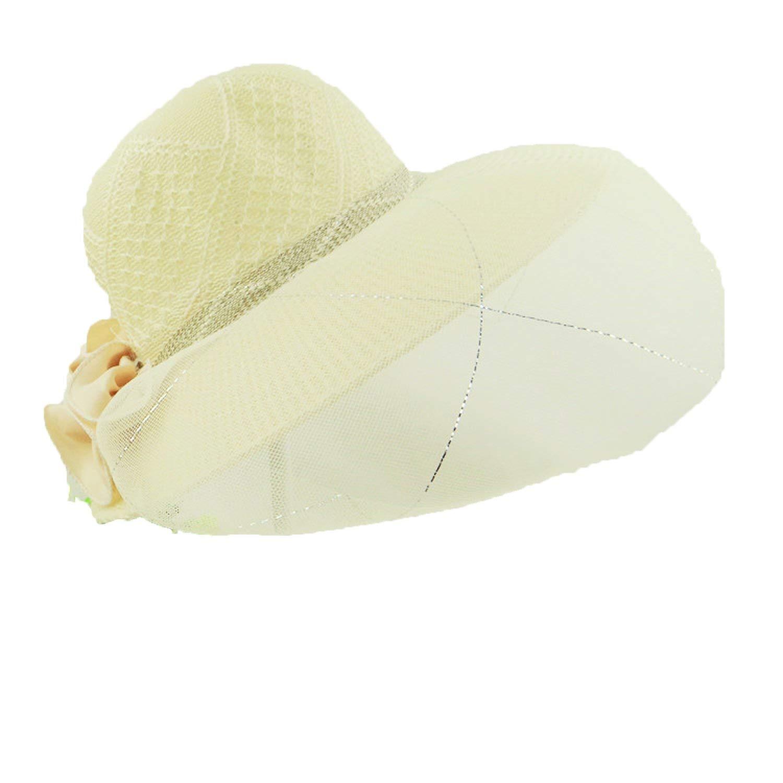 0226fb9fc22f3 Get Quotations · Romantic moments Women s Beach Sun Hats Lace Summer  Fashion Sombreros Wide Brim Side Floppy Straw Praia