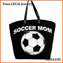 Large Canvas Monogram sports Soccer Personalized Tote bags