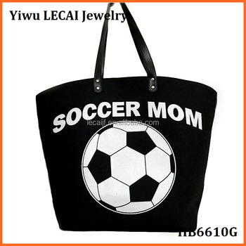 a852a43bc47f Large Canvas Monogram Sports Soccer Personalized Tote Bags - Buy ...