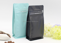 2017 new products plastic packaging coffee bean bags/zipper pouch for coffee/eight side sealed bags with zipper top for food