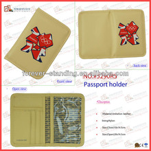 good passport cover pu leather material made in china