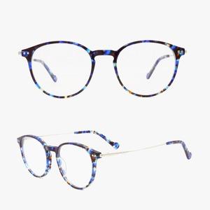 283efc7fc2 latest glasses frames for girl wholesale optical frames women glasses  acetate round frames metal temple combo