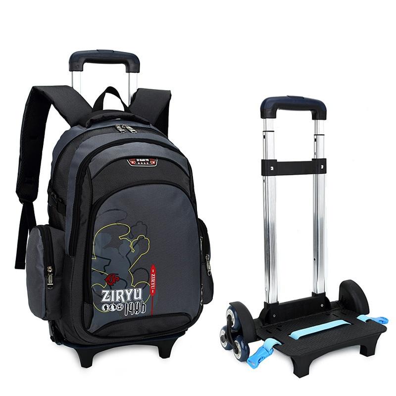 children school bags backpack mochila infantil bolsas waterproof trolley bags kids school bag with wheels climb stairs rod bag
