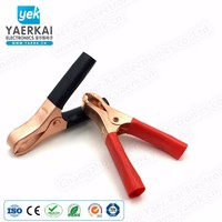 YAERK high quality 80mm nickel plated copper alligator clip 75A battery clamp