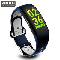 ShenZhen OEM Color Touch Screen heart rate monitor health bands watch bluetooth sport smart bracelet Q6S with app dowland