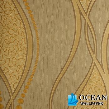 Moderne Schnell Verkäufer Gedruckt Wasserdicht Design Wandverkleidung Braun  Trail Schablone Pvc Tapete Wieder Boden