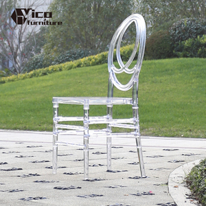 Hot selling infinity acrylic Phoenix pc plastic crystal clear wedding chair