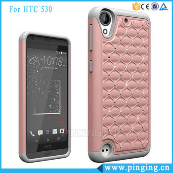 79829a2fe50 Newest 3 In 1 PC Silicone Bling Bling Diamond Mobile Phone Case For HTC  Desire 530