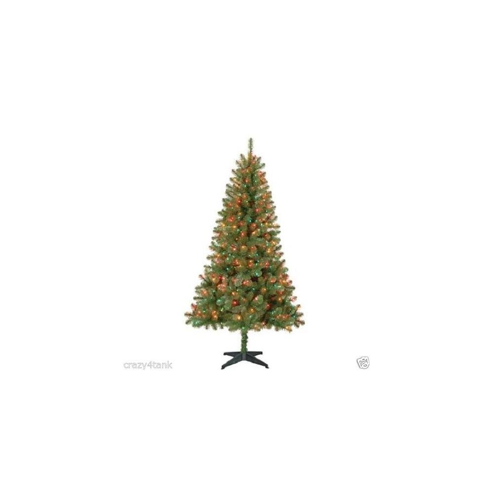 Holiday Time Time Pre-Lit 6.5' Madison Christmas Tree, Green, Multi-Co