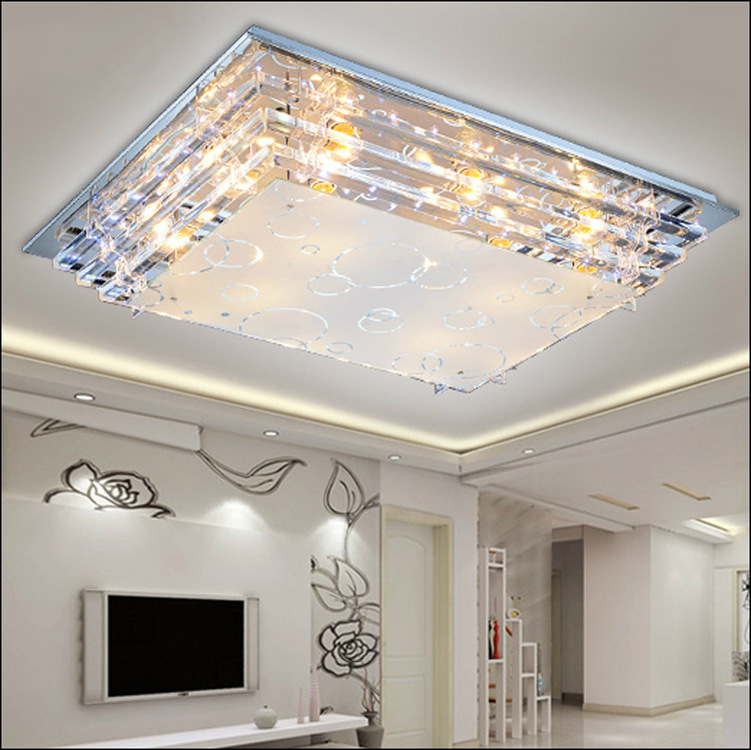 Dining Room Ceiling Light Fixtures: Modern Minimalist Ceiling Light E27Crystal LED Ceiling