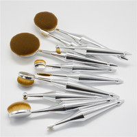sales product new arrive oval makeup brush cosmetic tools for beautiful woman 10pcs tooth makeup brush