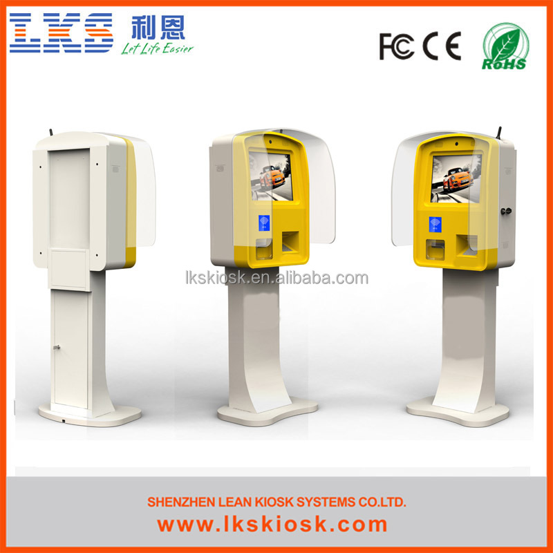 LKS parking ticket dispenser machine with bill validator