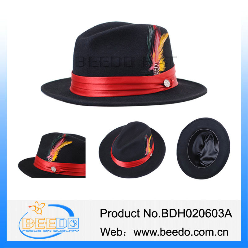 Hot Sale Men Solid Wool Brim Fedora Hasidic Jewish Black Hats - Buy ... 5f4aeff16c0