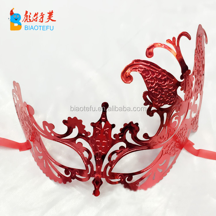 electroplating venice plastic masquerade mask