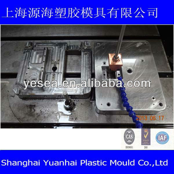TV remote control shell mold for mold center electrode handle