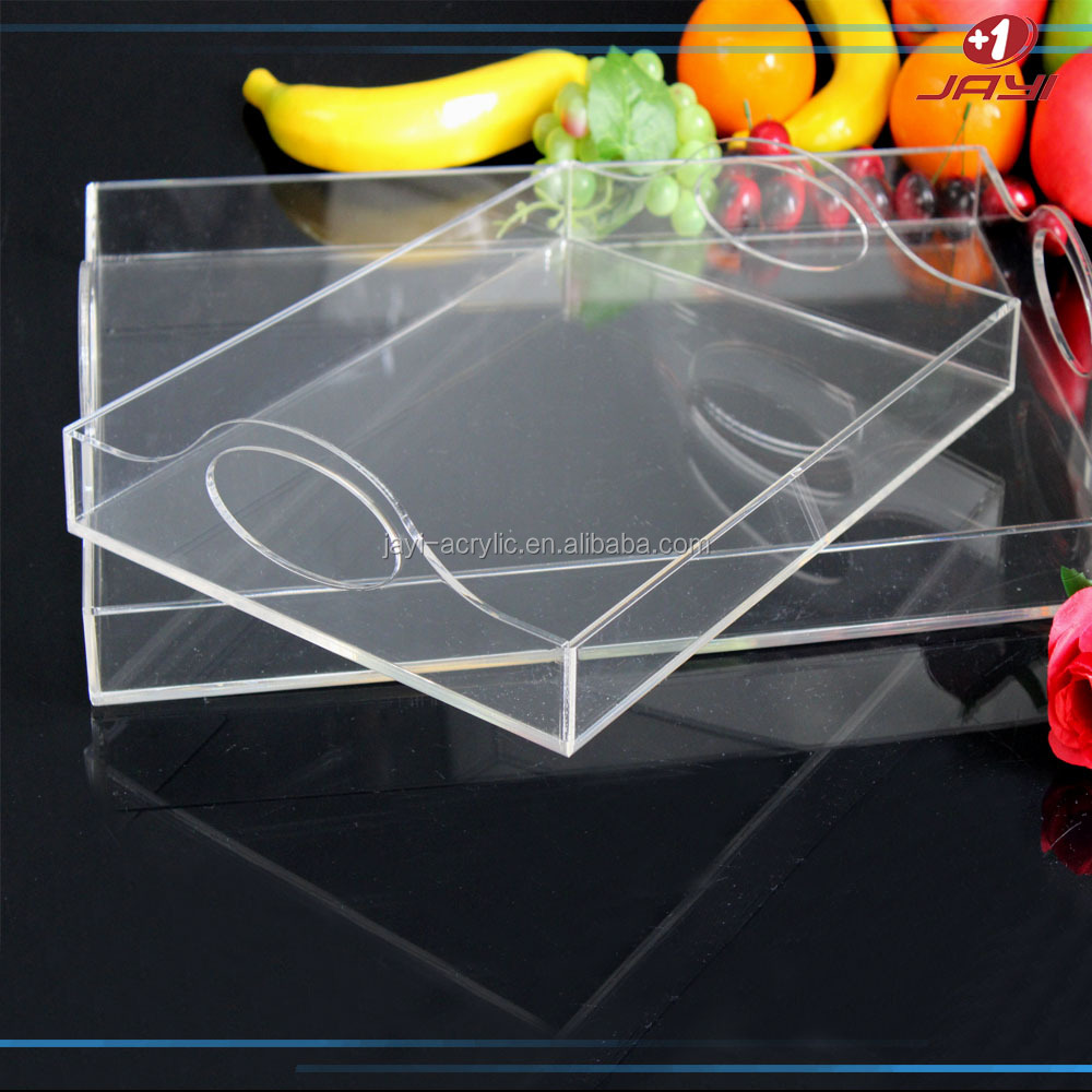 Alibaba China Custom Bent Monogrammed Serving Clear Square Acrylic ...