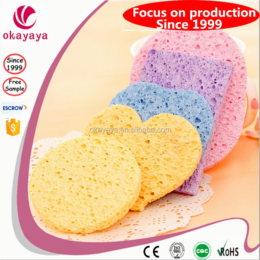 oval makeup sponge 100% natural premium wood pulp cellulose sponges