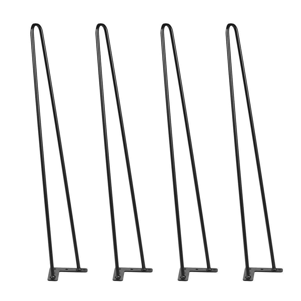"""Hairpin Table Legs 28"""" Heavy Duty Hairpin Legs, (Set for 4) Heavy Duty Table Legs (Black)"""