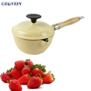 gloss color enamel coating sauce pan cast iron soup pot