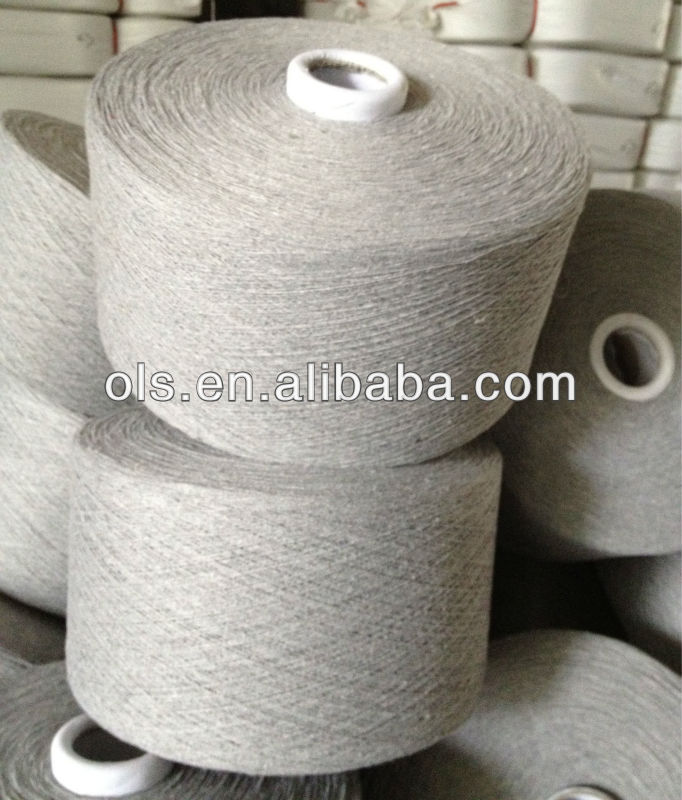 Carded Cotton/Polyester Yarn Wast