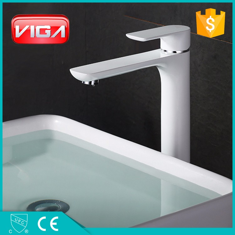 new design deck mounted single hole brass lavatory basin water faucet