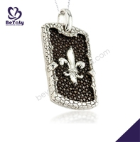 Saint image brown tone silver rhodium plating jewellery stores