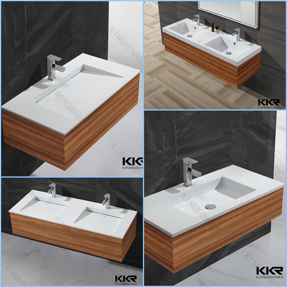 European Standards Solid Surface Bathroom Sinks,Double Bowl Wash ...