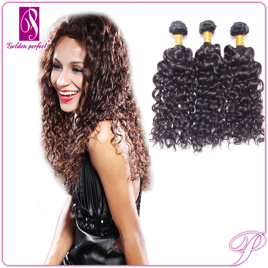 Natural Style Bresilienne Human Hair Weaving Brazilian Wet And Wavy