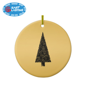 Stylish Christmas tree black and gold ceramic Christmas ornament art manufacturer